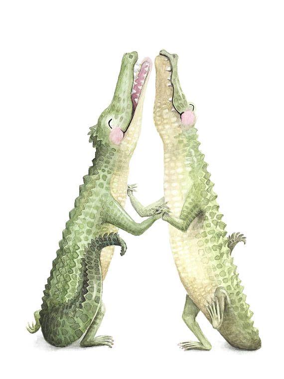 HOW CUTE are these dancing alligators??   Krokos in 2018   Pinterest ...