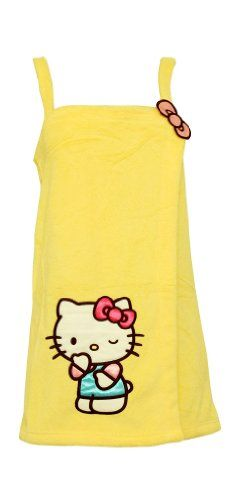 Hello Kitty Plush Babe Cute Yellow Spa Wrap