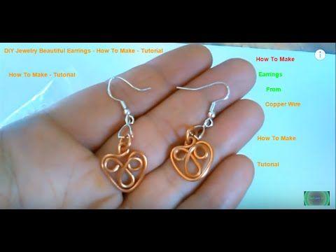 DIY Jewelry Beautiful Earrings - How To Make - Tutorial