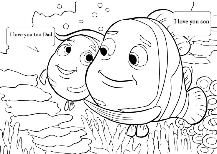 19 best Finding Memo images on Pinterest Finding memo, Coloring - new coloring pages i love you daddy