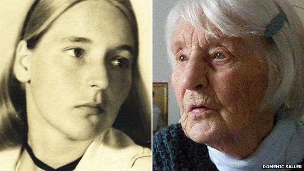 Lilo Furst-Ramdohr in 1942 - and today (picture: Domenic Saller)    Now thats a brave lady