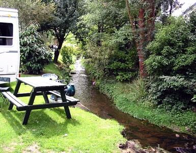 Creeksyde Holiday Park, beside the Creek...Hence the name!