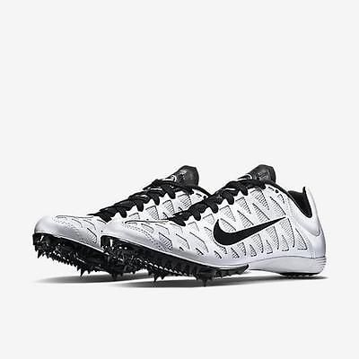Nike Zoom Maxcat 4 Track Running Spikes Shoes Men's Sz 11.5  White