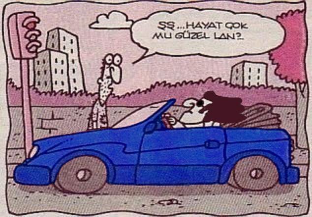 Şş... Hayat çok mu güzel lan?.. #karikatür #mizah #matrak #komik #espri #cabrio…