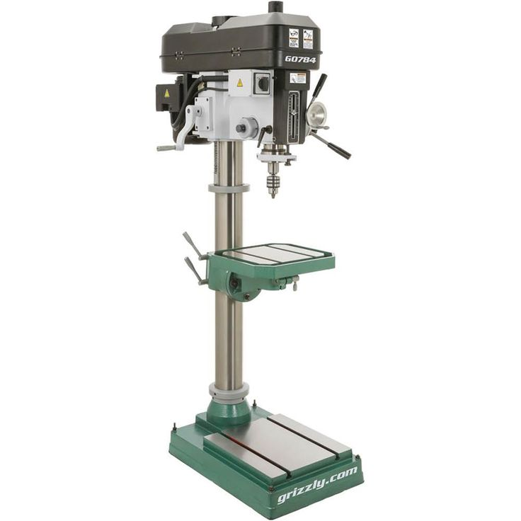 """15"""" Heavy-Duty Floor Drill Press   Grizzly Industrial"""