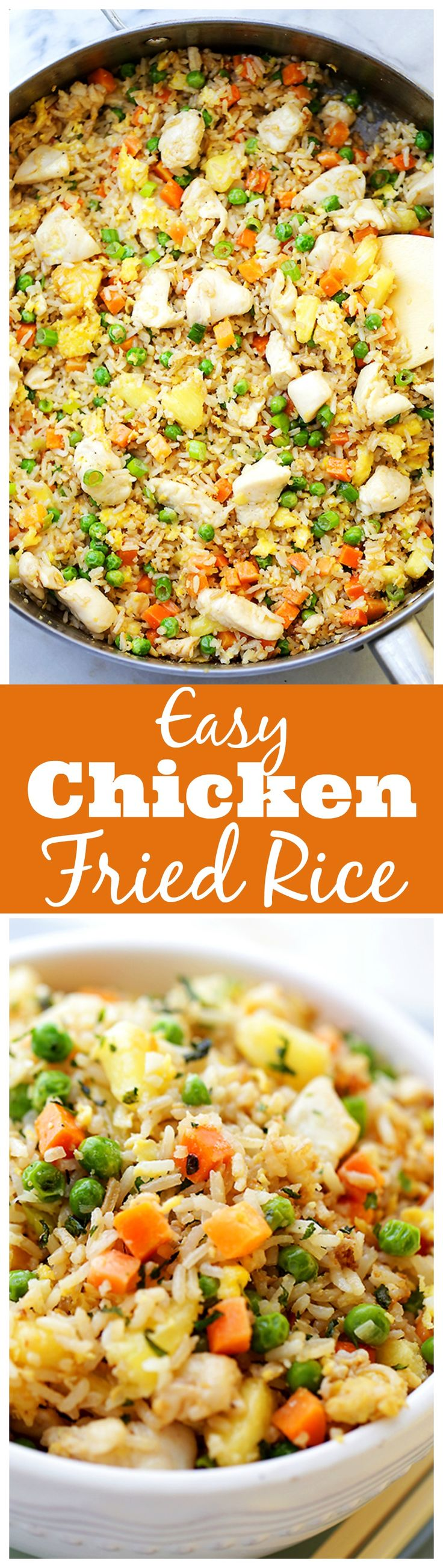 292 best foods fried rice images on pinterest cooking recipes easy chicken fried rice this chicken fried rice is so much better than takeout and you wont believe how easy and quick it is to make ccuart Choice Image