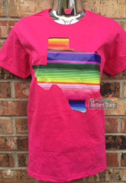 Vinyl Serape Texas Design On Loose Fit Womens Tees Fashion Fashion Outfits Trendy Outfits