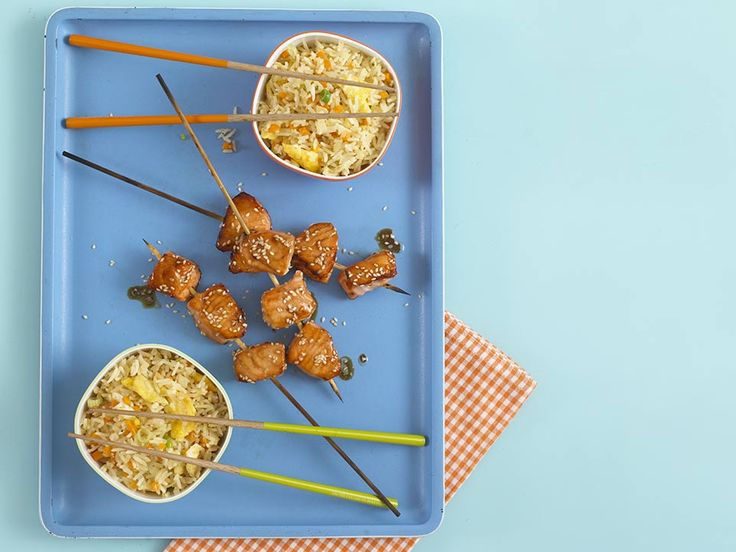 Eating food on a stick is always more fun, and this is a tasty way to get your child to eat more oily fish. It