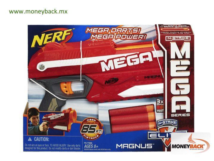 MONEYBACK MÉXICO. En tiendas JUGUETRON puedes conseguir la nueva pistola lanzadora NERF N-STRIKE MEGA MAGNUS. Es la lanzadora con el mismo rendimiento que las anteriores pero con un mayor alcance de disparo: ¡Hasta 30 metros! Contiene un clip de carga de 3 dardos de espuma totalmente inofensivos y se recarga con rapidez. JUGUETRON es negocio afiliado a Moneyback. + #moneyback www.moneyback.mx  MONEYBACK MEXICO. In JUGUETRON toy stores you can get the new NERF N-STRIKE MEGA MAGNUS BLASTER…