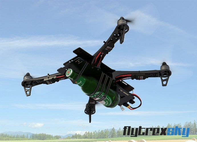 Flytrex Sky Internet Drone- The world's first internet connected drone. Deliver drinks to your friends the cool way!