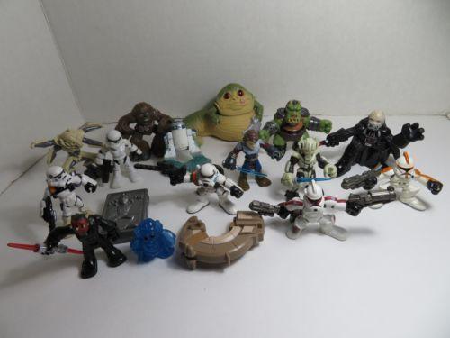 Hasbro-Star-Wars-Galactic-Heroes-Large-Lot-Jabba-the-Hut-Darth-Vader-amp-More