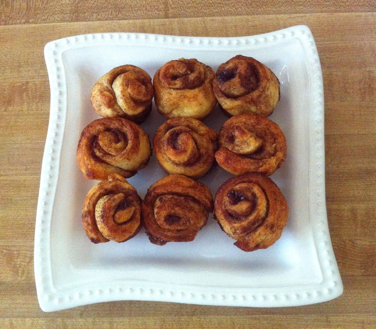 Quick and Easy Homemade Mini Cinnamon Rolls! 1. Mix together 1 stick ...