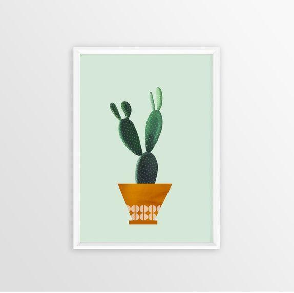 Kaktus( mint) - A3 print