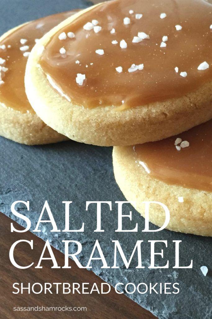 Salted Caramel Shortbread Cookies #SaltedCaramel #Shortbread #Cookies