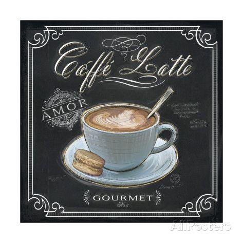 オールポスターズの チャド・バレット「Coffee House Caffe Latte」高画質プリント