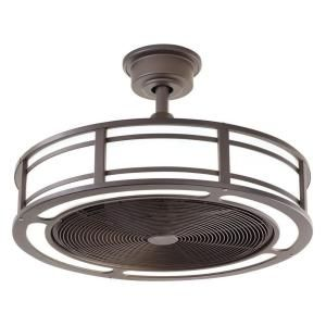 Home Decorators Collection Brette 23 in. LED Espresso Bronze Indoor/Outdoor Ceiling Fan AM382A-ORB at The Home Depot - Mobile