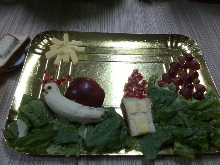 Σαλάτα με φρούτα και λαχανικά από τα εργαστήρια του Παραμυθένιου Δάσους..