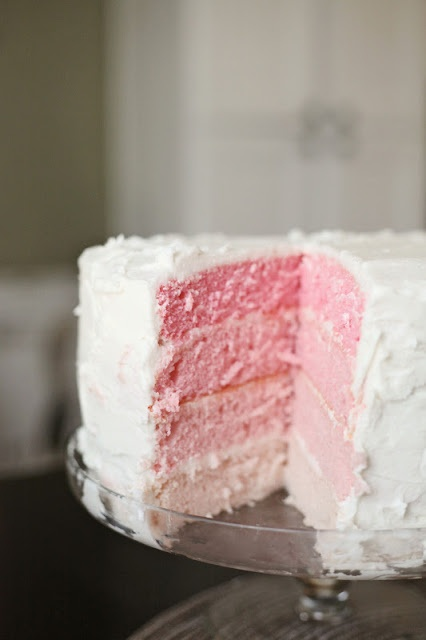 White Almond Sour Cream Cake (said to be the best cake ever...need to try!)