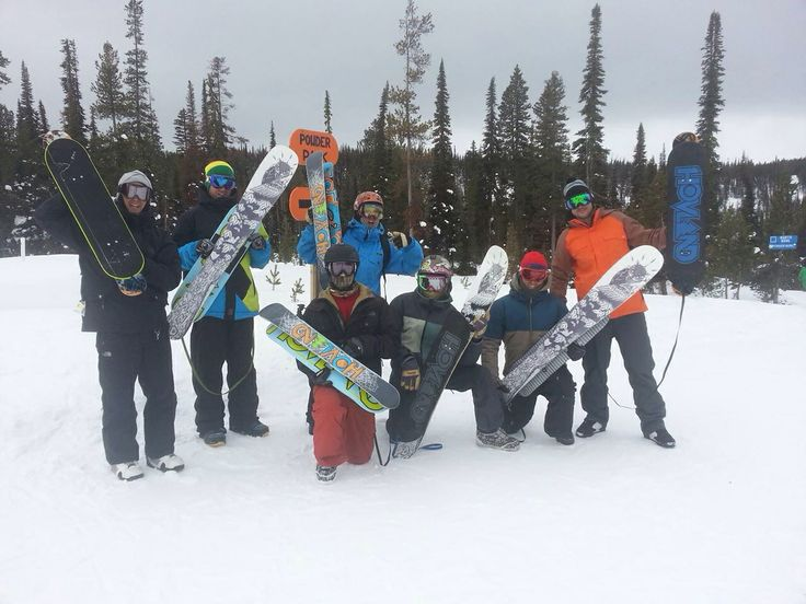 Hovland Snowskates party at Lost Trail, MT   snowskate bideck sk8mtns snowboard skateboard