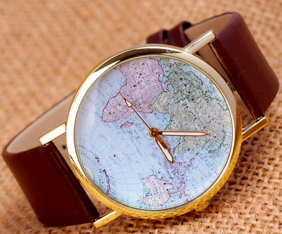 Carte World Watch montres femmes Mens Watch par SurpriseCollection, $3.99