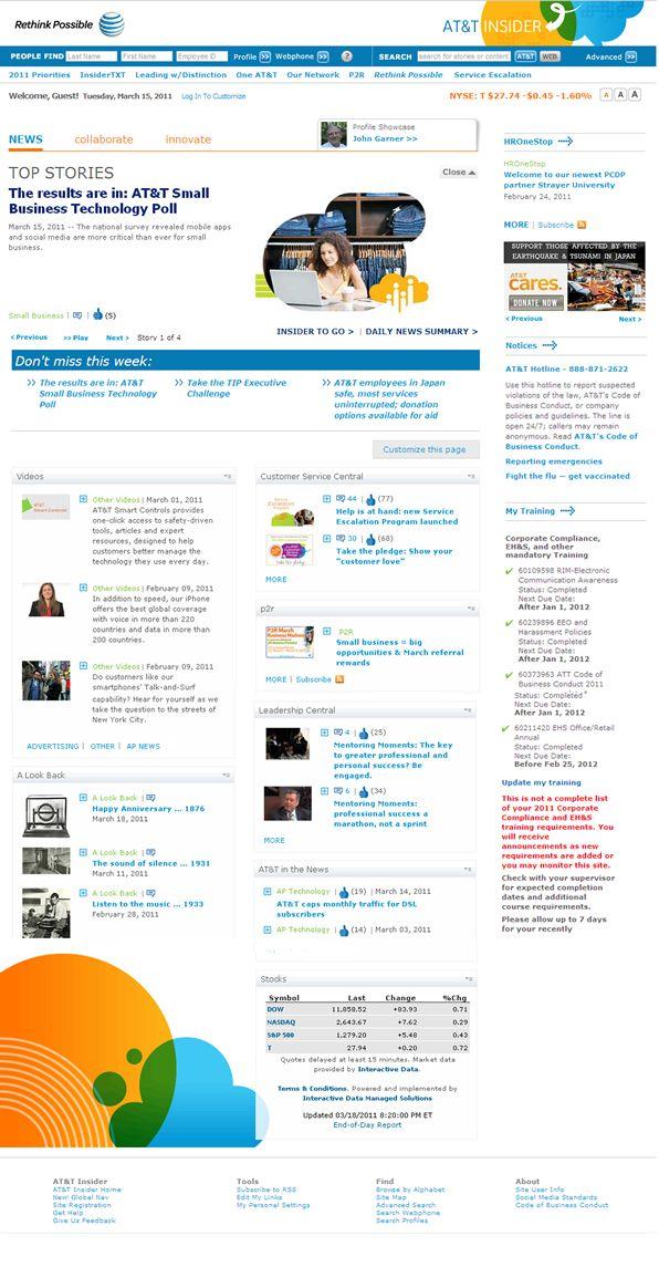 48 besten intranet beispiele bilder auf pinterest ansatz suche und ui muster. Black Bedroom Furniture Sets. Home Design Ideas