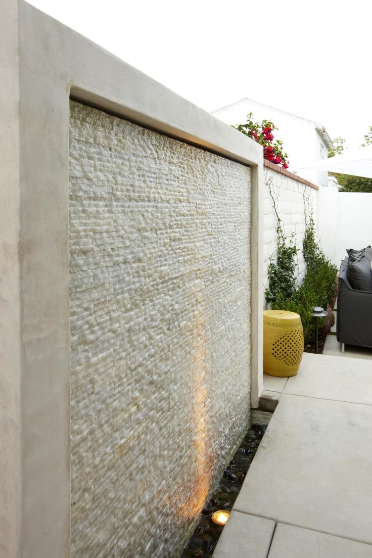 Diy patio water wall the interior frugalista diy patio water wall - 495 Best Water Features Images On Pinterest Backyard Ideas Landscaping And Garden Ideas