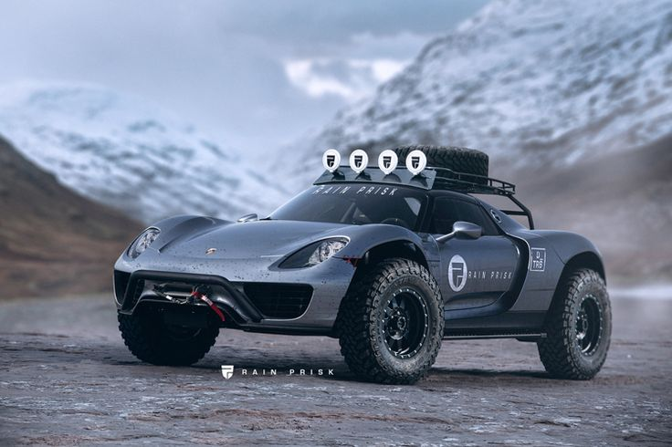 First Look at the Porsche 918 Spyder Off-Road Edition by Designer Rain Prisk