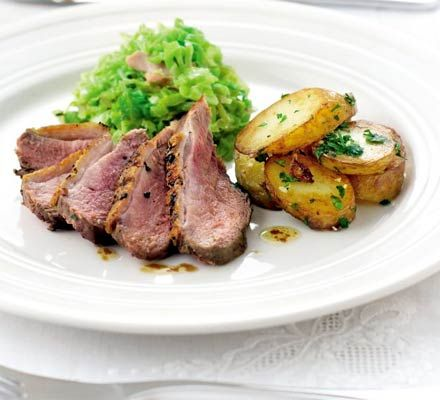 One-pan duck with Savoy cabbage recipe - Recipes - BBC Good Food