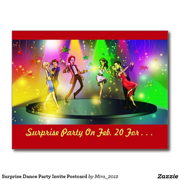 Surprise Dance Party Invite Postcard