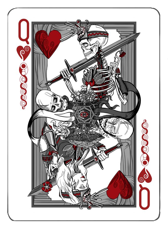 Playing Card Design Drawings