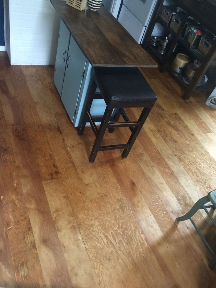 My new plywood kitchen floor (birch and for plywood)