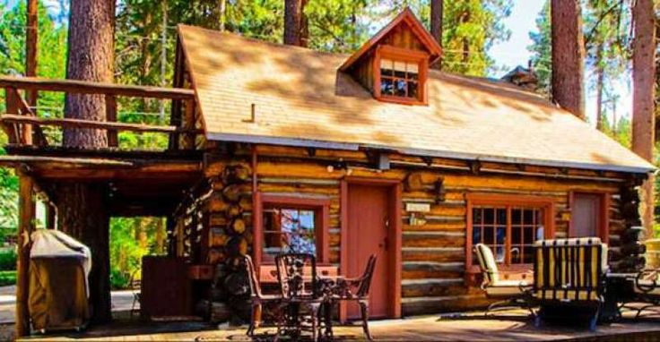 TOUR THIS 1929 LAKE TAHOE CABIN, AN EXQUISITE 475 SQUARE FOOT TRIP BACK IN TIME