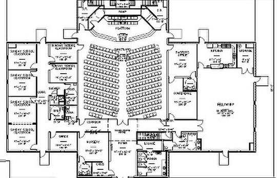 17 best eglise plan images on pinterest for Floor plan church