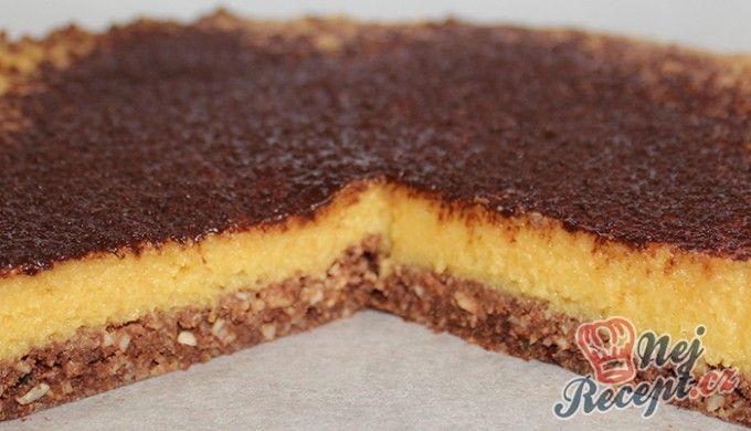FITNESS nepečený mangový dort