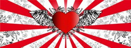 Love Hearts Wings Vector Hd Fb Timeline Cover 851x315 Facebook Covers