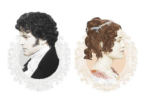 Mr. Darcy and Elizabeth. P&P (1995) #FavoriteAustenMoment #DearMrKnightley