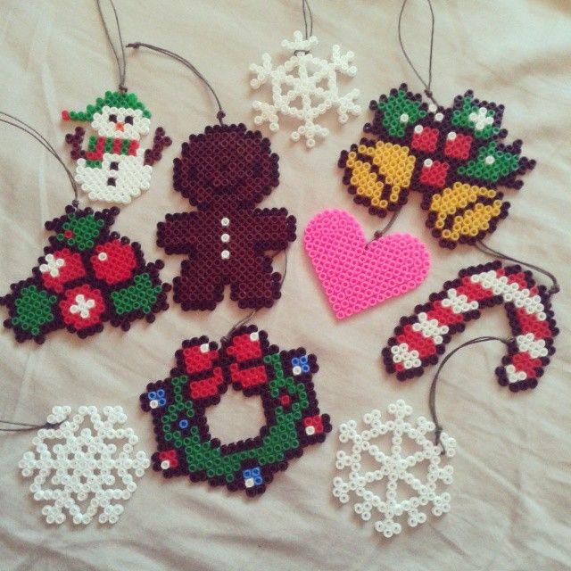 Christmas ornaments perler beads by golovakonserva