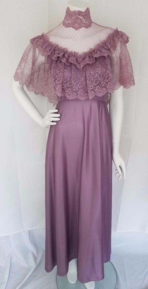 Vtg 70s JC PENNEY Lavender Lace Southern Belle Bridesmaid Dress Sz 9/10 #JCPenney #Dress #Halloween