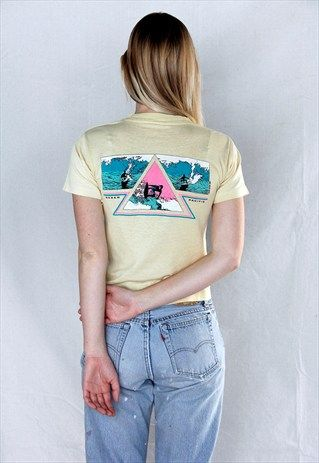 Iconic+Vintage+80's+OP+Graphic+California+Surf+Tee+