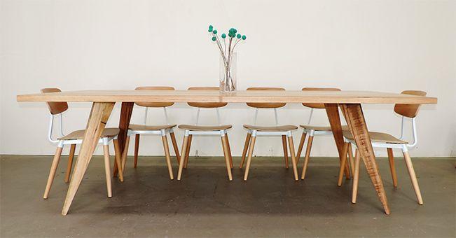 Retro Industrial Dining Table Scandinavian Style Rust