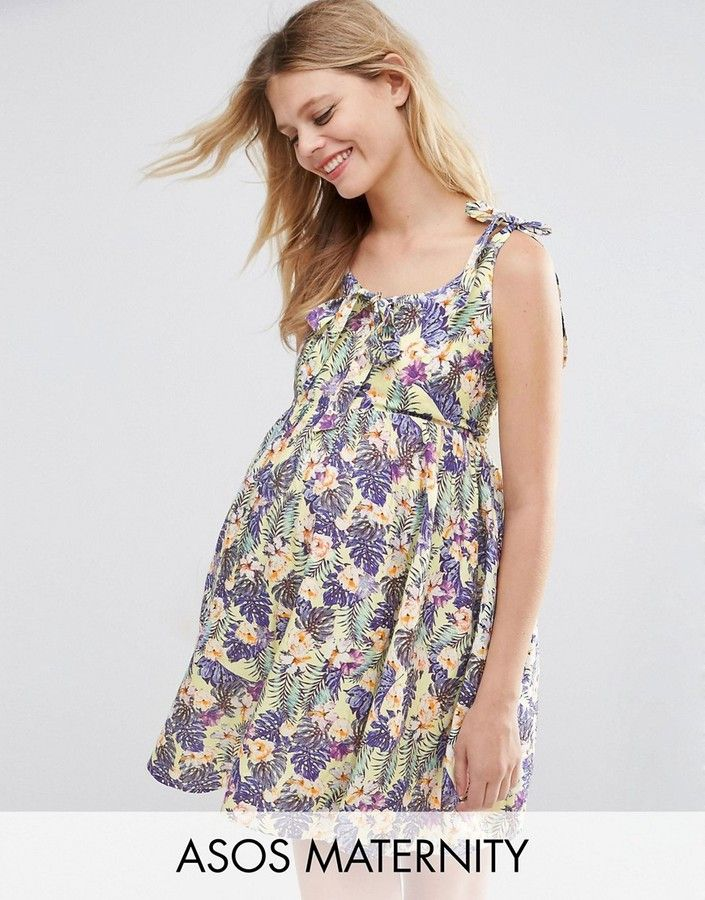 ASOS Maternity Floral Print Dress
