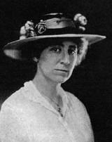 Jeannette Rankin, first woman in Congress, elected by the State of Montana in 1917.