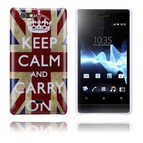 Flag (Keep Calm) Sony Xperia Miro Case