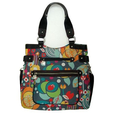 My sister-in-law and I were shopping together where we found this Lily Bloom purse at TJ Maxx.  I gave her first dibs...but I ended up buying it!  Now my dear sis in law regrets it as she loves the print...I've been on the hunt and have found it for her!