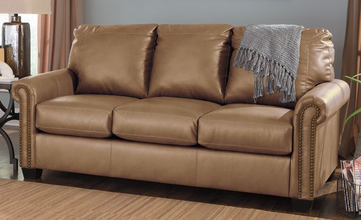 Lottie Durablend Almond Full Sleeper Sofa