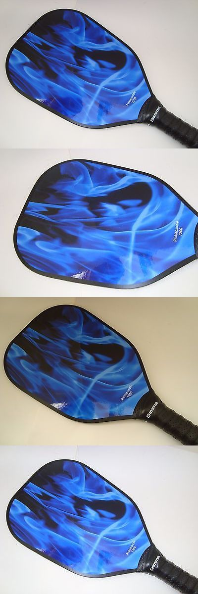 Other Tennis and Racquet Sports 159135: Super New Pickleball Paddle Blue Flame Fire Picklepaddle T200 Thin Quick At Net BUY IT NOW ONLY: $37.95