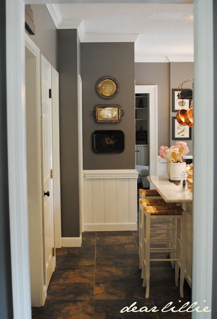 Matt and Meredith's HUGE Kitchen Makeover: Vintage serving trays on wall