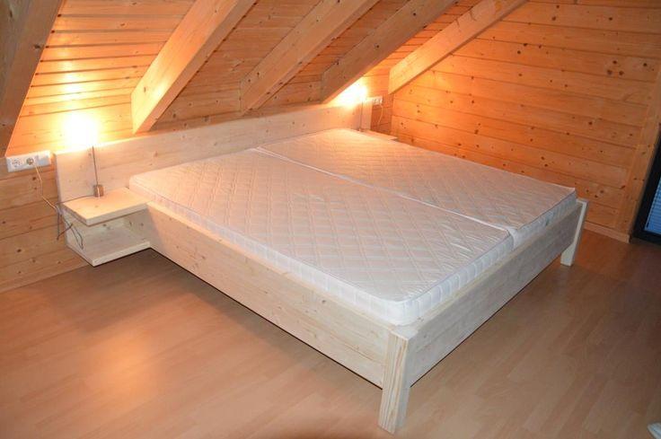 bett mit nachttisch aus massivholz fichte betten pinterest fichten nachttische und bett. Black Bedroom Furniture Sets. Home Design Ideas