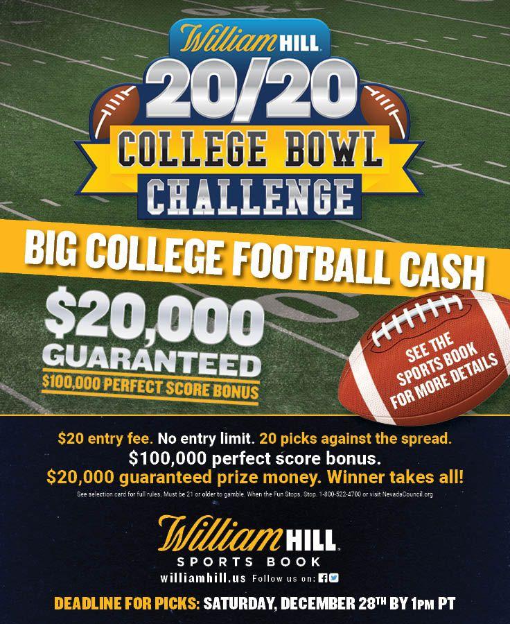 William Hill 20/20 College Bowl Contest Sportsbook