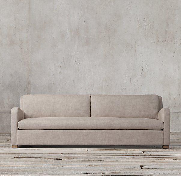 The Petite Belgian Slope Arm Upholstered Sofa